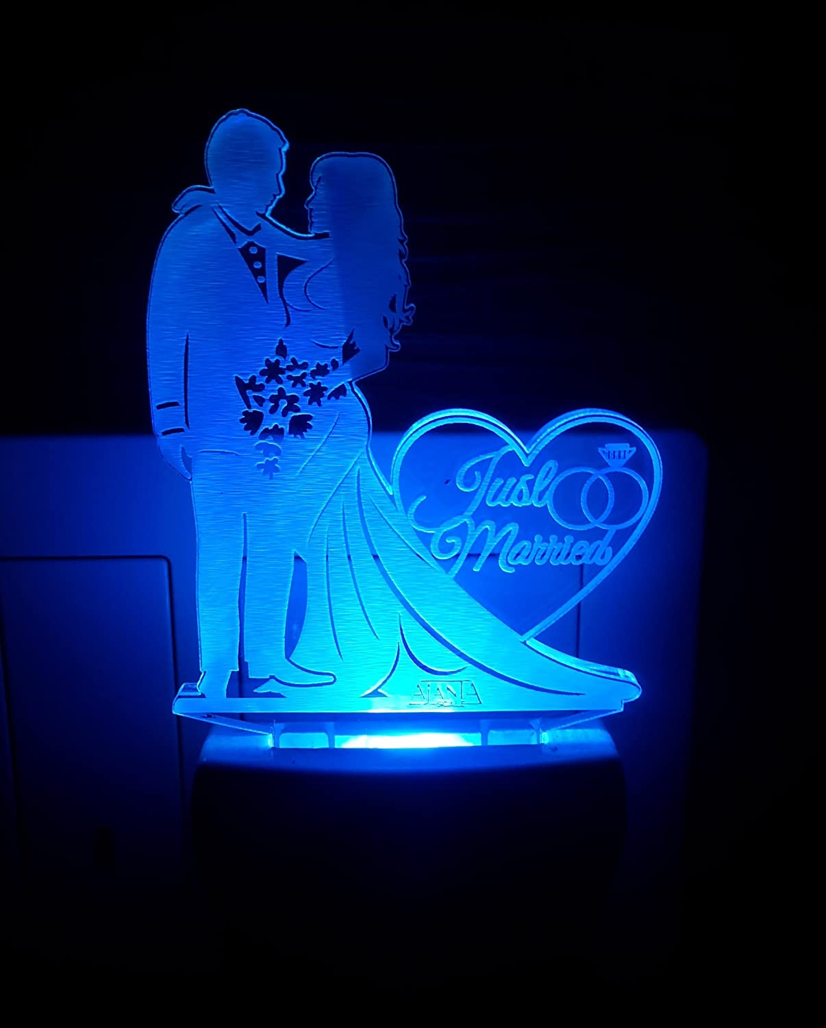Buy Ajanta Romantic Love Couple Code 2086 Plastic 3d Night Lamp Multicolour Online At Low Prices In India Amazon In