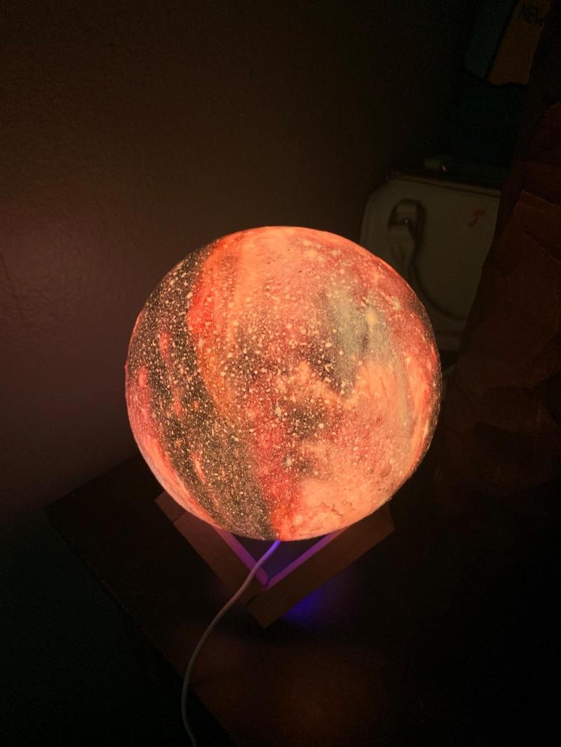 16 Color 3D Galaxy Star Kids LED Luna Lamp 18CM AU (18CM) photo review