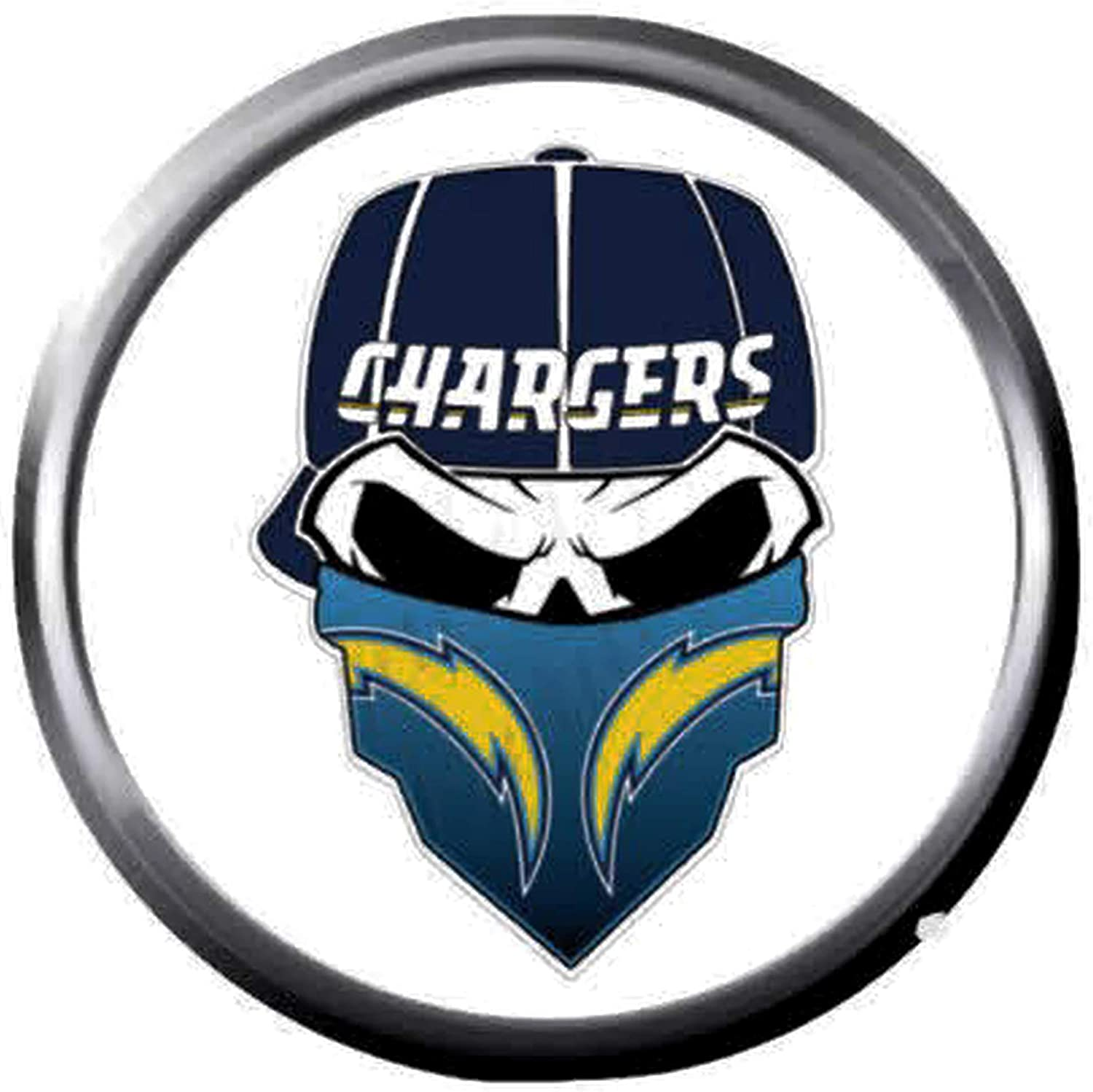 Amazon Com Mean Face Bolt La Chargers Nfl Football Logo 18mm 20mm Snap Jewelry Charm Jewelry