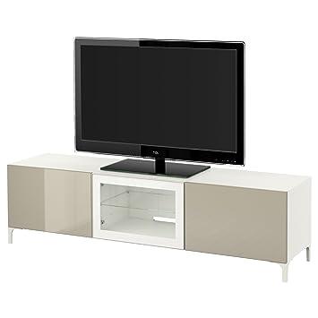 Ikea Besta Tv Banc Avec Tiroirs Et Porte Blancselsviken