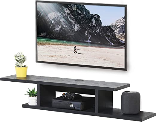 Shelf Wall Mounted Tv Stand Floating Shelf Tv Cabinet Wall Media Console With Open Storage Shelf Media Entertainment Storage Shelf Floating Hutch Storage Shelf Media Audio Video Console Game Console
