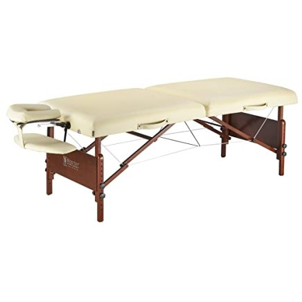 """Master Massage 30"""" Del Ray Pro Portable Massage Table Package, Sand Color, Luxurious with 3"""" Thick Cushion of Foam"""