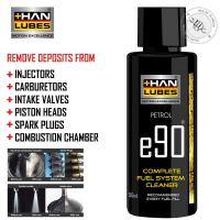 Han Lubes Complete Fuel System Cleaner e90 Injector Carburetor Additive Petrol & Diesel 50ml