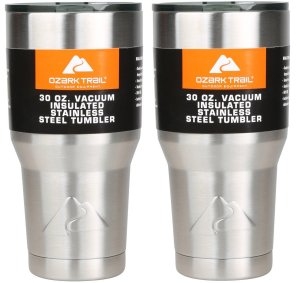 Ozark Double-Wall Insulated stainless steel tumblers