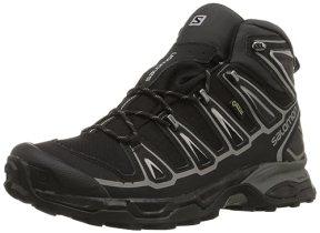 Salomon Men's X Ultra Mid 2 GTX Multifunctional Hiking Boot, Black/Black/Aluminum, 8.5 M US