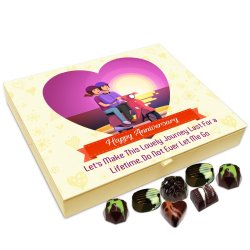 Chocholik Anniversary Gift Box – Happy Anniversary Let's Make This Journey Last for A Lifetime Chocolate Box – 20pc