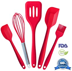 Premium Silicone Kitchen Utensil Set in Hygienic Solid Coating