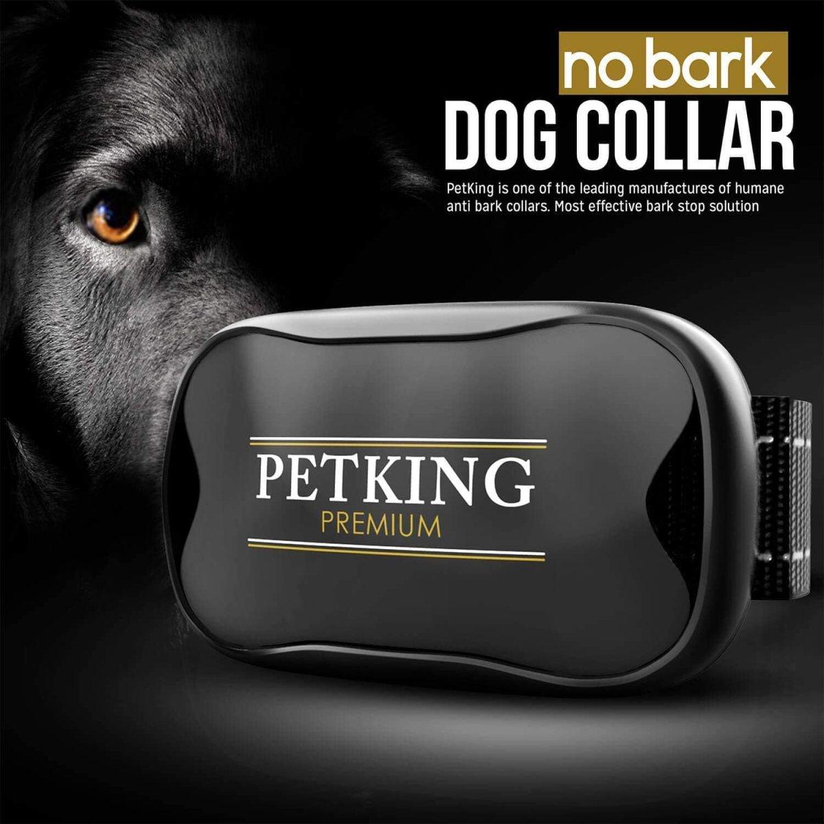 PetKing Premium Collar Antiladridos para Perros Pequeños y Grandes Collar Adiestramento Perros No Electrico Collares Anti ladridos Dispositivo Antiladrido Collare Entrenamiento Vibración