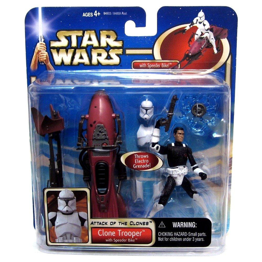 Star Wars Episode 2 Deluxe Clone Trooper Action Figure Toys Games Action Figures