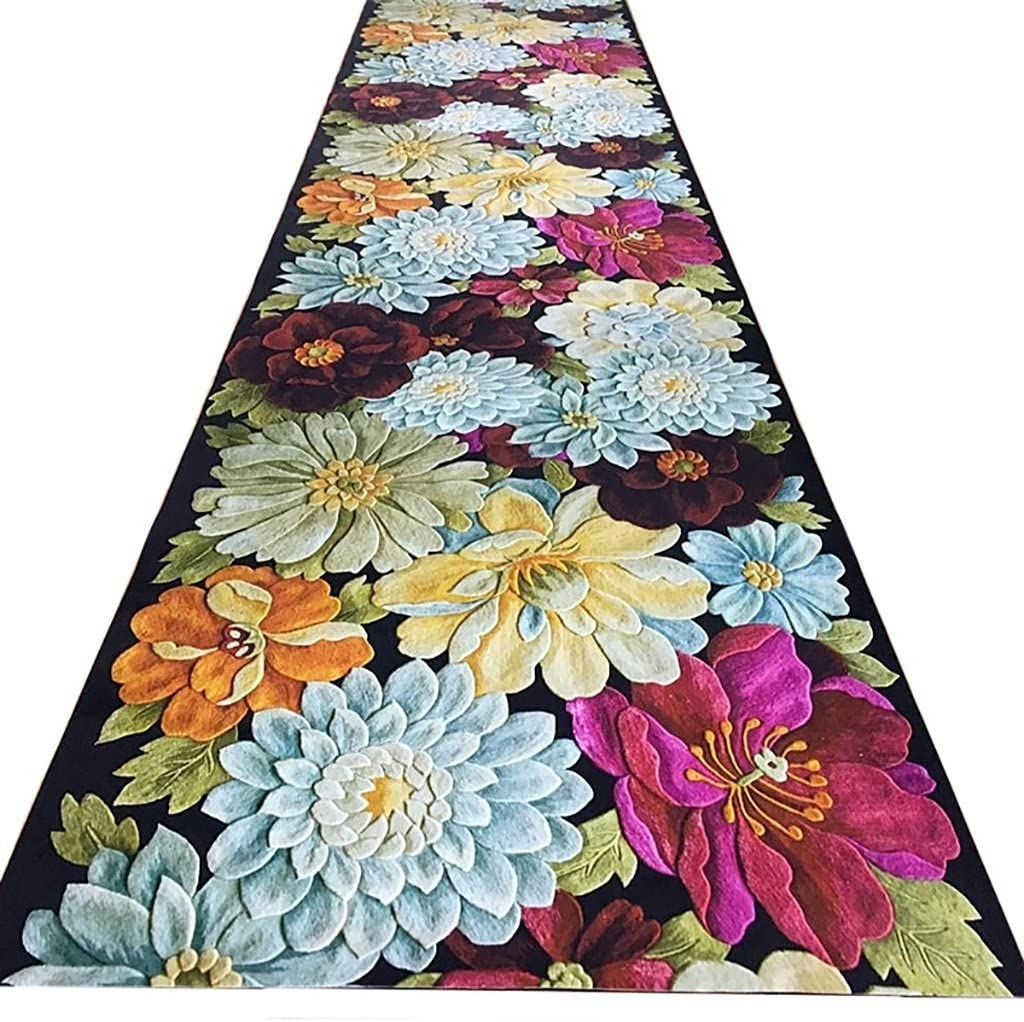 Amazon Com Lhdt Aisle Carpet European Hotel Hallway Stairs 3D | Floral Carpet For Stairs | Modern | Brown Pattern | Pattern | Laminate | Diamond Pattern