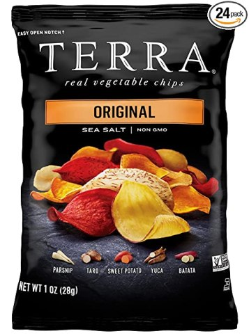 TERRA Vegetable Chips, Original with Sea Salt, 1 Ounce (Pack of 24)
