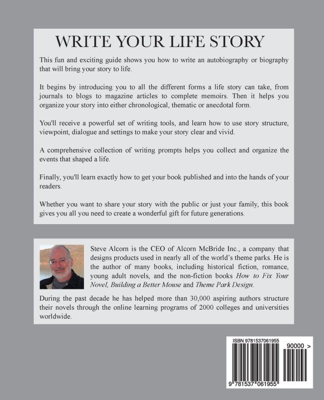 Write Your Life Story: Brainstorm, Write and Publish Your