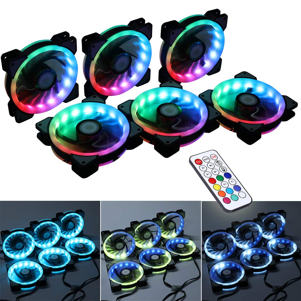 best rgb fans pack of six