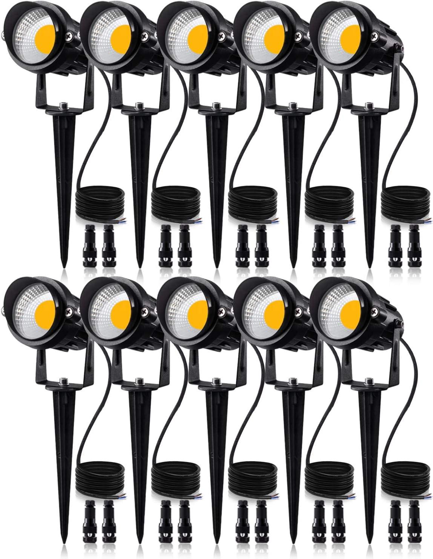 SUNVIE 12W Low Voltage LED Landscape Lights with Connectors