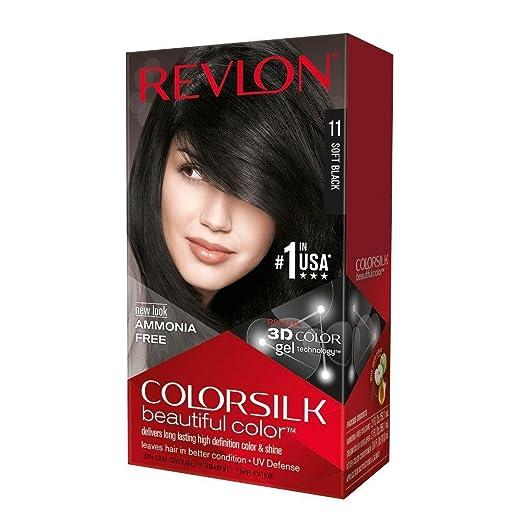 Revlon ColorSilk Beautiful Color, Soft Black [11] 1 ea (Pack of 4)
