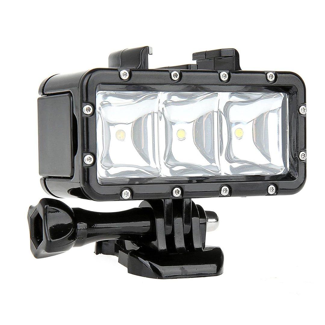 SHOOT Lampe Plongée LED sous Marine pour GoPro Hero 7 Noir Argent Blanc/6/5/4/3+/3 Appareil Photo Numérique Étanche,Étanche 30m,300LM Lumière pour Pêche de Nuit,Camping,Randonnée à vélo,Exploration