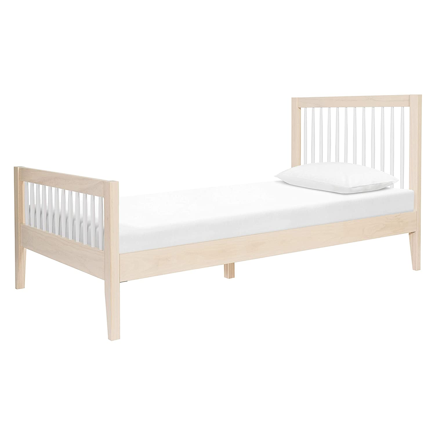 Amazon Com Babyletto Sprout Platform Twin Bed In Washed Natural White Mattress Support Slats Included No Box Spring Needed Baby