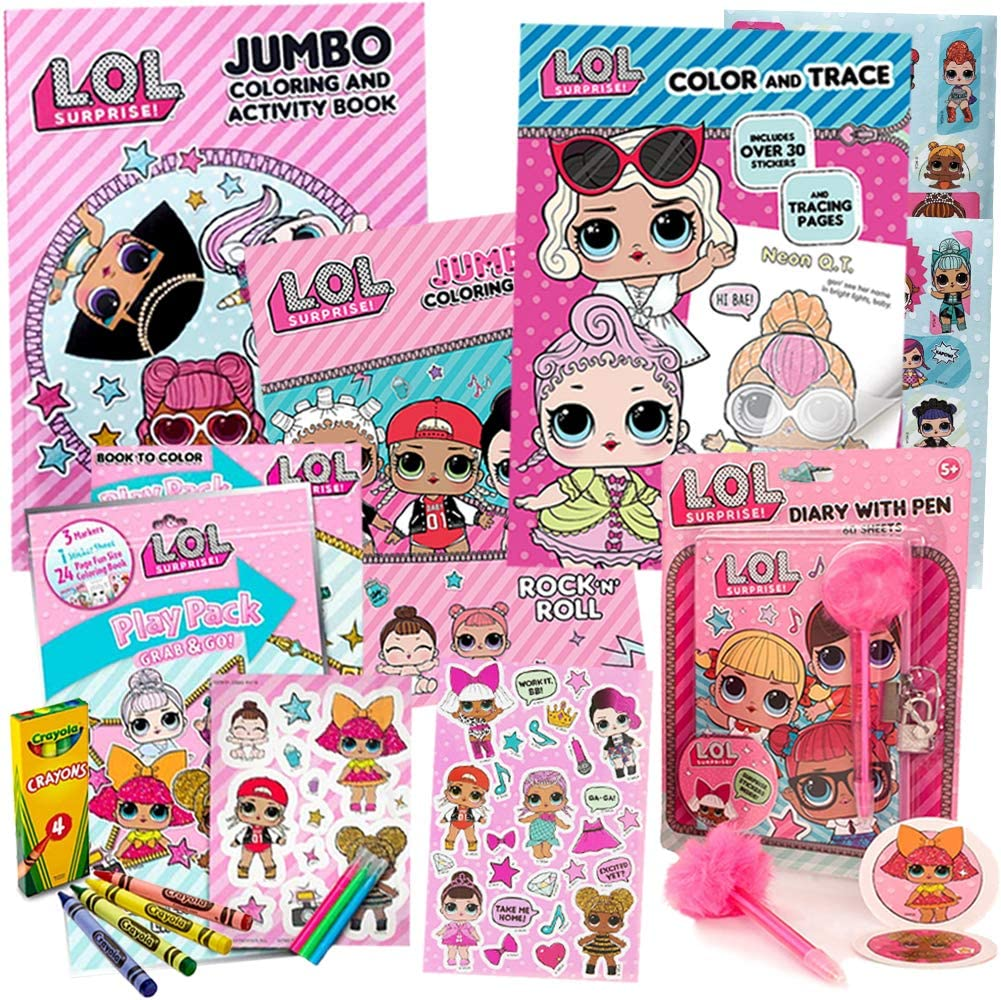 Other Brand Character Dolls L O L Surprise Multicolor Lol 80pg Coloring Book 1 Pc Dolls Bears Sman5pandeglang Sch Id