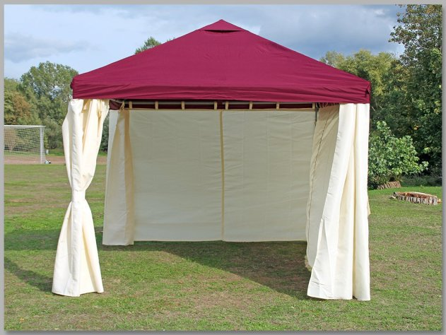 Pavillon 3x4m Sahara Bordeaux Partyzelt 4x3m Verkaufszelt wasserdicht von stabilepartyzelte
