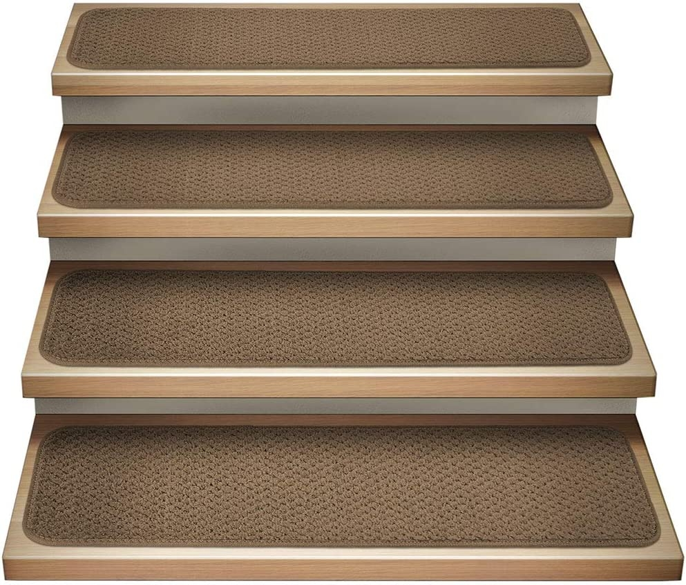 Amazon Com House Home And More Set Of 12 Attachable Indoor | Carpet Stair Treads Near Me | Flooring | Stair Runner | True Bullnose | Indoor Stair | Non Slip