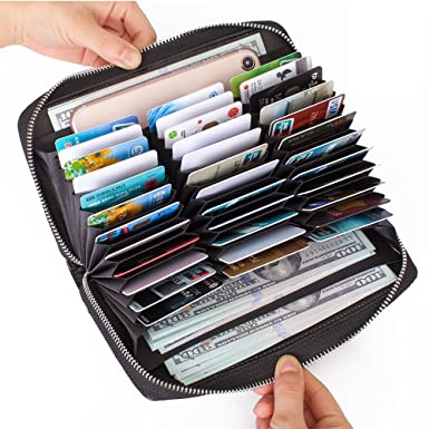 Image result for Buvelife Credit Card Wallet Leather RFID Wallet for Women, Huge Storage Capacity