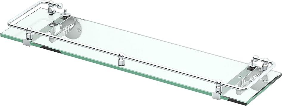 Gatco 1438c Glass Railing Shelf Chrome Mounted Bathroom Shelves Amazon Com