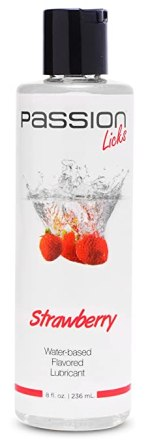Passion Lubes Passion Licks Strawberry Water Based Flavored Lubricant