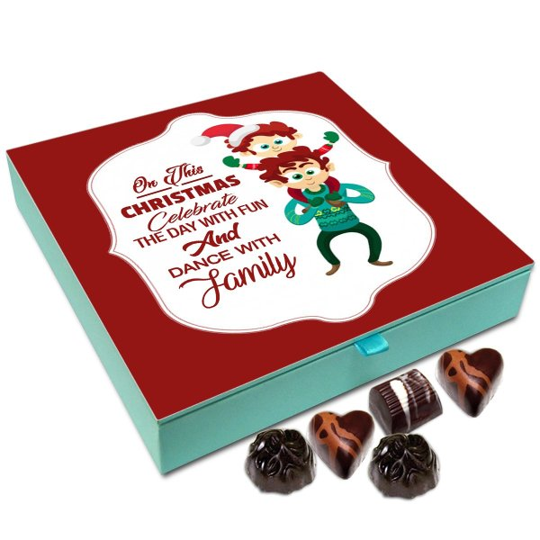 Chocholik Christmas Gift Box – On This Christmas Celebrate The Day with Fun and Dance Chocolate Box – 9pc