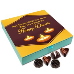 Chocholik Diwali Sweets – May Everyone Stuffs Your Mouth with Sweets This Diwali Chocolate Box – 9pc
