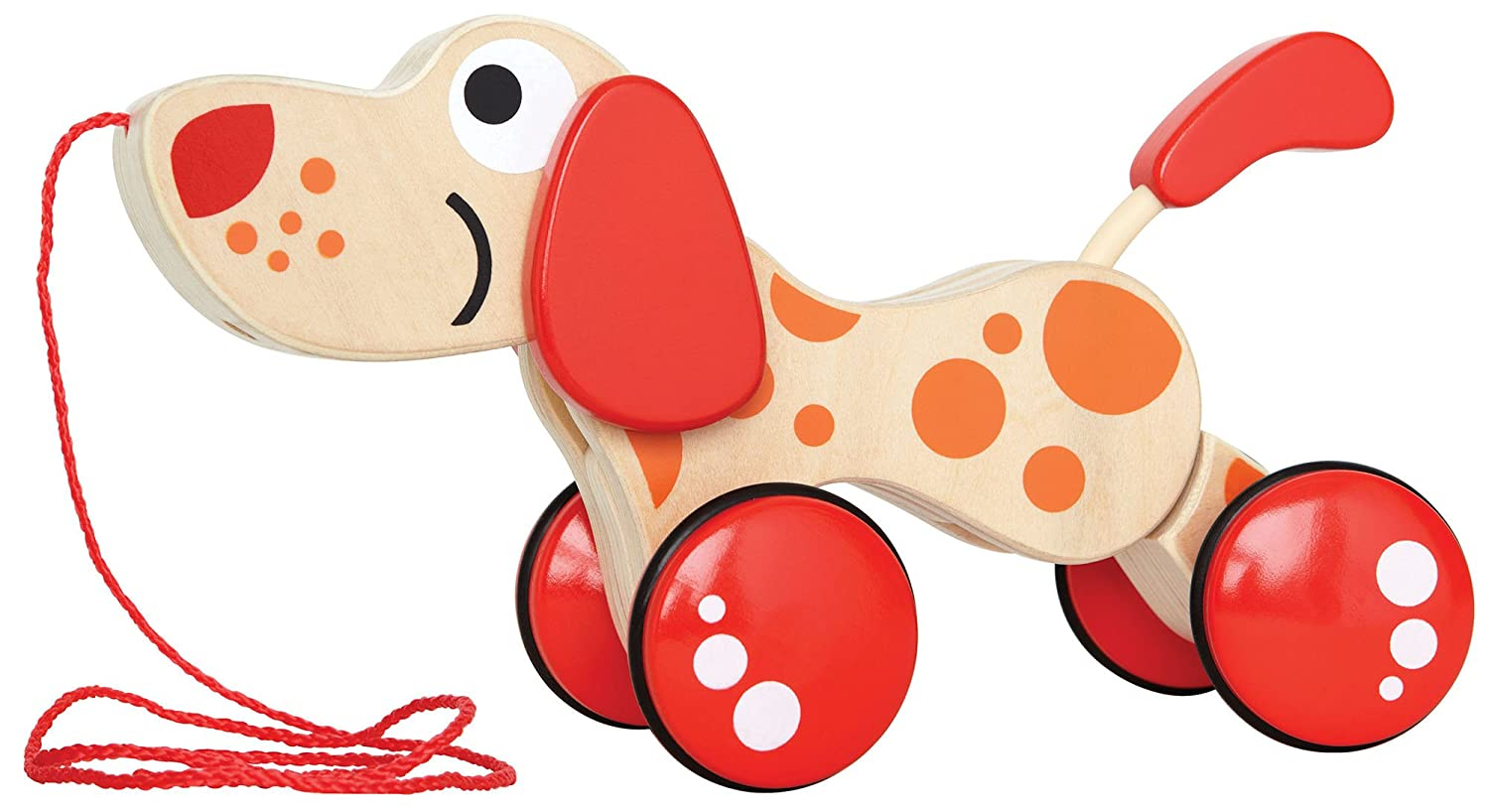 Hape - Walk-A-Long Puppy Wooden Pull Toy