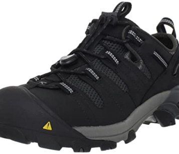 KEEN Utility Men's Atlanta Cool Steel Toe Work Shoe,Black,10 D US