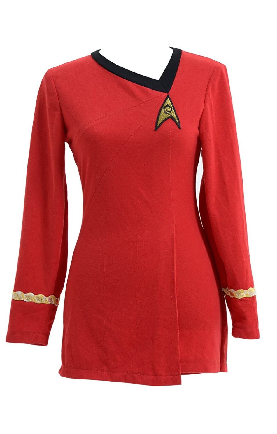Star Trek Costume Cotton Female Duty Uniform Red