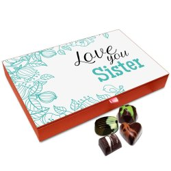 Chocholik Rakhi Gift Box – I Love You Sister Too Much Chocolate Box for Sister – 12pc