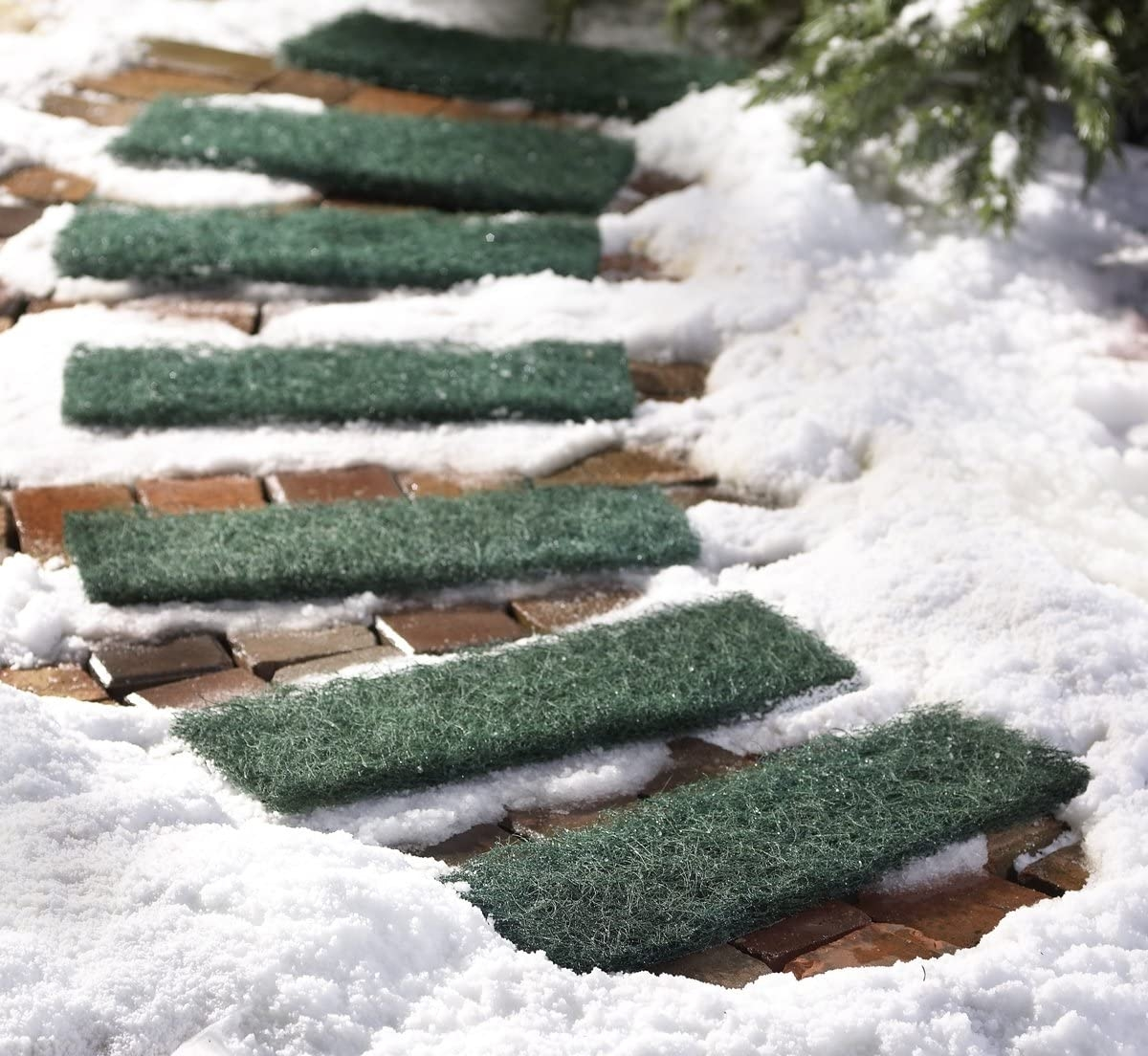 Outdoor Ice And Snow Walk Safe Traction Steps Set Of 6   Outdoor Stair Treads For Ice And Snow   Heated   Mat   Cool Inventions   Non Slip Mats   Heattrak