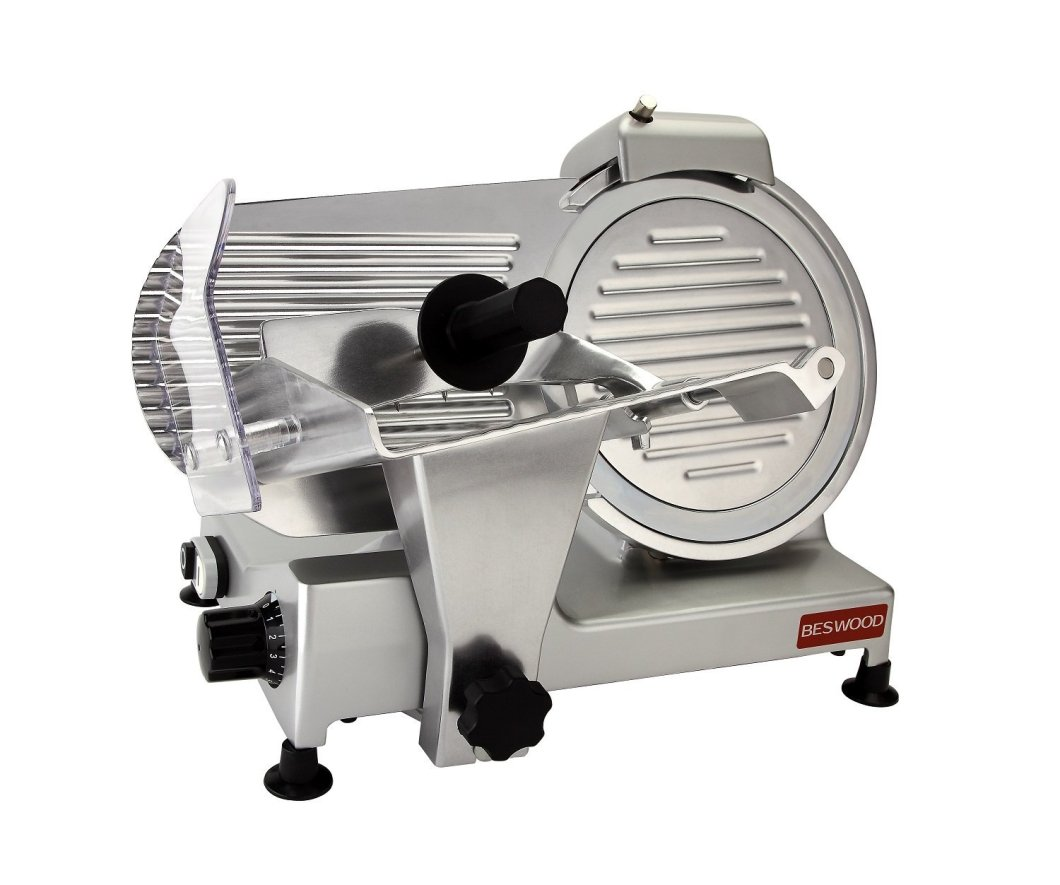 "BESWOOD 10"" Premium Chromium-plated Meat Slicer"