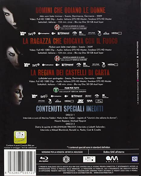 Millennium Trilogy Amazonit Vari Film E Tv