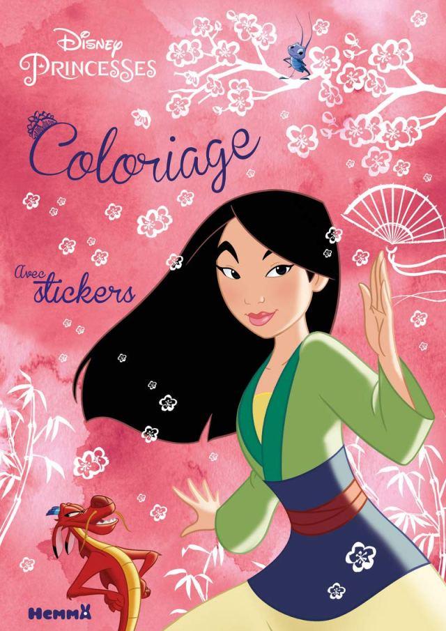 Disney Princesses - Coloriage avec stickers (Mulan) : COLLECTIF