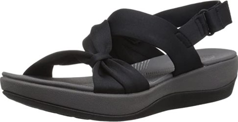 Clarks Women's Arla Primrose Platform Sandals in black