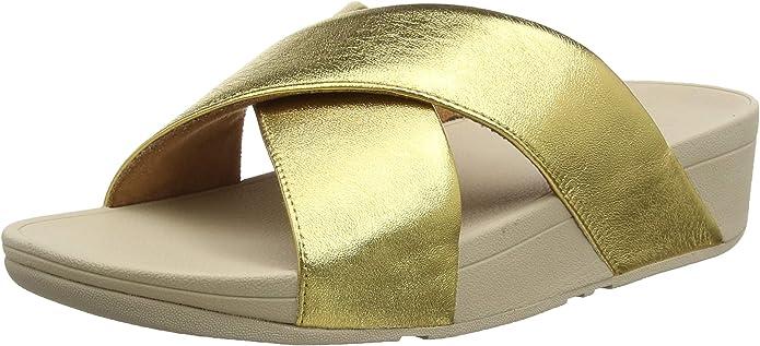 FitFlop Lulu Slide-Leather, Sandalias de Punta Descubierta desde