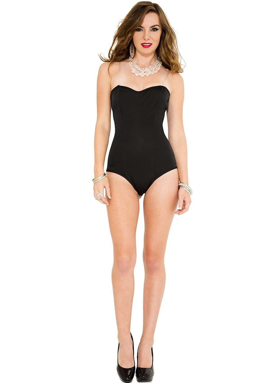 how to make a black swan costume - Women's Strapless Bodysuit