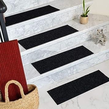 Amazon Com Natural Area Rugs Charcoal Halton Diy Pet Friendly   Cheap Carpet Stair Treads   True Bullnose   Hallway Carpet   Carpet Runners   Slip Resistant   Bullnose Carpet