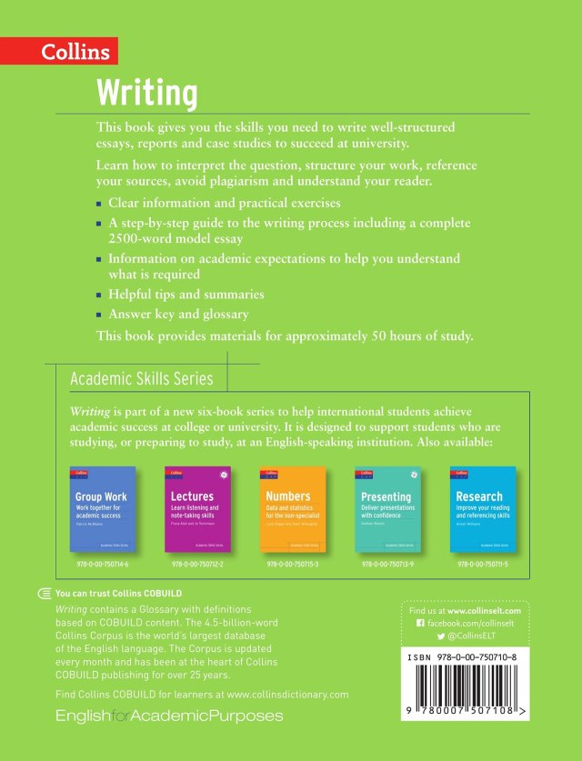 Writing: Learn to Write Better Academic Essays (Collins English