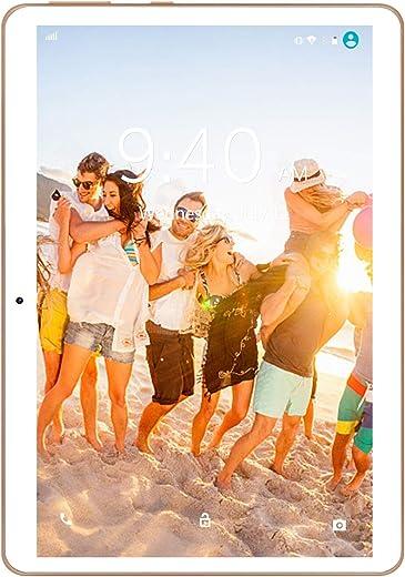 4G LTE Tablette Tactile 10 Pouces Android 9.0 Pie YOTOPT, 64Go, 4Go de RAM Tablette Dual SIM GPS, WiFi, Bluetooth, Type-c (Or)