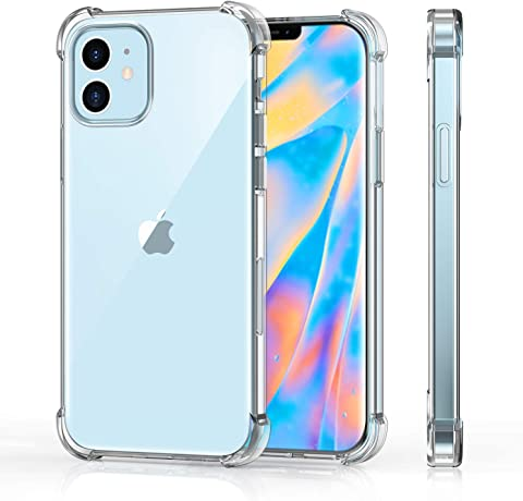 iPhone 12 ケース クリア TenZon iPhone 12 5G ケース 6.1インチ 透明 ストラップ穴付き Qi充電対応 ソフトTPU製 iPhone 12 カバー クリア 超薄型 軽量 耐衝撃 レンズ保護 滑り止め シンプル