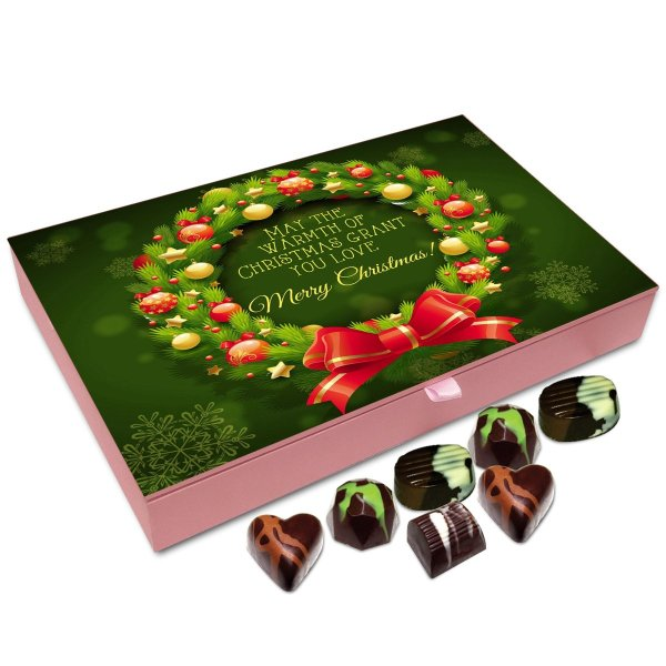 Chocholik Christmas Gift Box – May The Warmth of Christmas Grant You Love Chocolate Box – 12pc