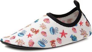 Lauwodun Kids Swim Water Shoes Boys Girls Toddler Barefoot Aqua Sock Shoes for Beach Pool Surfing Yoga Swimming Walking Unisex-Sea World-1819