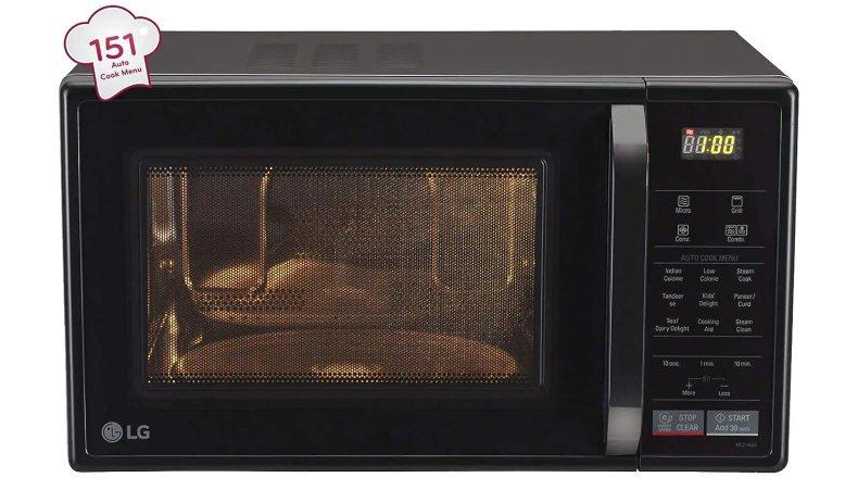 LG 21 L Convection Microwave Oven (MC2146BG)