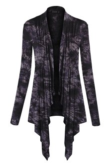 LL Womens Long Sleeve Draped Open Front Cardigan - Made in USA