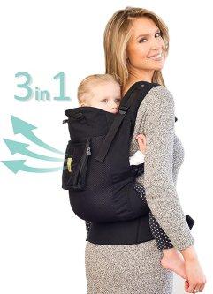 Líllébaby 3 in 1 CarryOn All Seasons Toddler Carrier - Air, Black