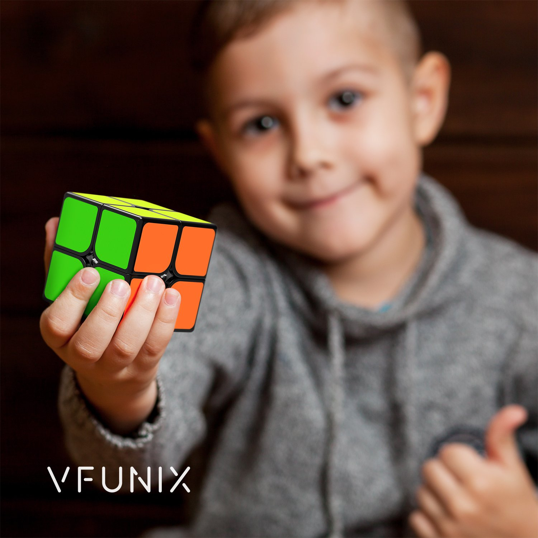 VFunix 2x2 Speed Cube, Eco-Friendly Plastics and Vivid Colors Puzzle Cube